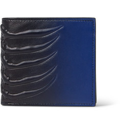 Alexander McQueen Ribcage Embossed Leather Billfold Wallet