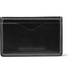 Alexander McQueen Polished-Leather Cardholder