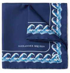 Alexander McQueen - Printed Silk-Twill Pocket Square