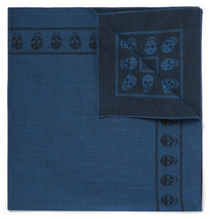 Alexander McQueen Skull-Patterned Cotton-Jacquard Pocket Square
