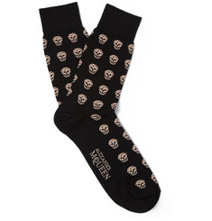 Alexander McQueen - Skull-Patterned Cotton-Blend Socks