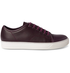 Lanvin Cap-Toe Grained-Leather Sneakers