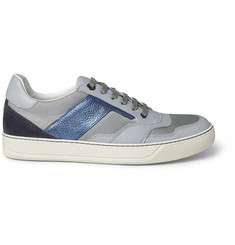 Lanvin Leather and Suede-Panelled Sneakers