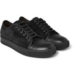 Lanvin - Cap-Toe Leather and Suede Sneakers