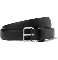 Maison Margiela Black 2cm Grained-Leather Belt