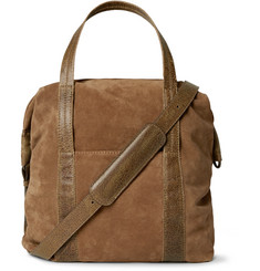 Maison Margiela - Leather-Trimmed Suede Tote Bag