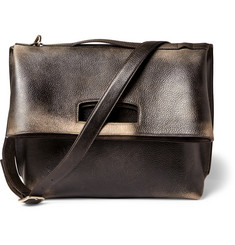 Maison Margiela Foldover Distressed-Leather Tote Bag