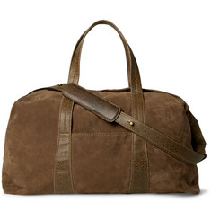 Maison Margiela Leather-Trimmed Suede Holdall