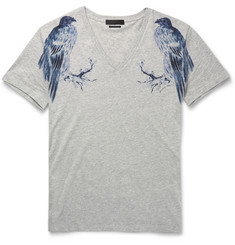 Alexander McQueen Slim-Fit Eagle-Print Cotton T-Shirt