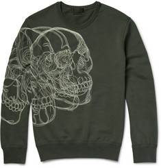 Alexander McQueen - Skull-Embroidered Loopback Cotton-Jersey Sweatshirt