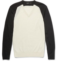 Alexander McQueen - Two-Tone Wool Sweater