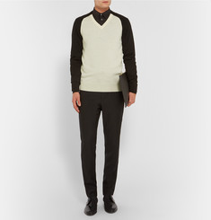 Alexander McQueen Two-Tone Wool Sweater