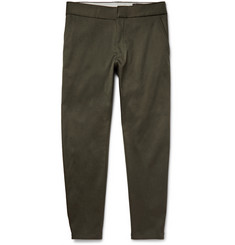 Alexander McQueen Skinny-Fit Stretch-Drill Trousers