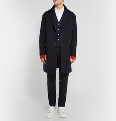Alexander McQueen Slim-Fit Colour-Block Cashmere Cardigan