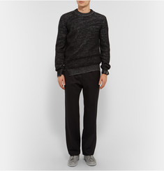 Alexander McQueen Asymmetric Wool and Cashmere-Blend Sweater