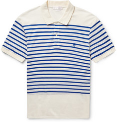 Alexander McQueen Slim-Fit Striped Cotton-Piqué Polo Shirt