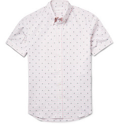 Alexander McQueen Slim-Fit Skull-Jacquard Cotton Shirt