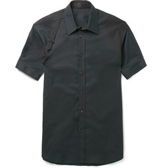 Alexander McQueen Harness Slim-Fit Stretch-Cotton Shirt