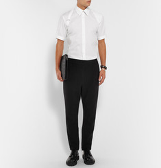 Alexander McQueen Slim-Fit Harness-Detailed Stretch-Cotton Shirt