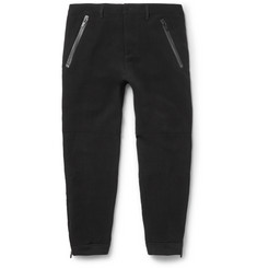 Alexander McQueen - Tapered Zipped-Cuff Crepe Trousers