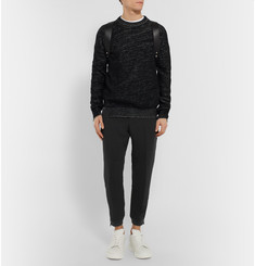 Alexander McQueen Tapered Zipped-Cuff Crepe Trousers