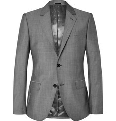 Alexander McQueen - Grey Slim-Fit Wool and Mohair-Blend Suit Jacket