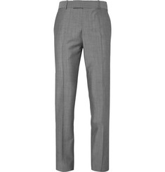 Alexander McQueen Grey Slim-Fit Wool and Mohair-Blend Suit Trousers