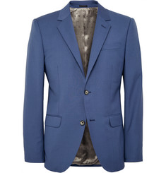 Alexander McQueen Cobalt Slim-Fit Wool and Mohair-Blend Blazer