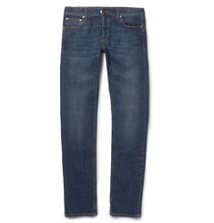 Alexander McQueen Slim-Fit Washed-Denim Jeans