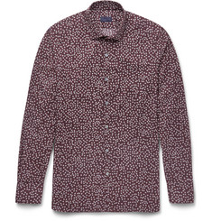 Lanvin Slim-Fit Printed Cotton-Poplin Shirt