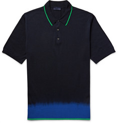 Lanvin - Slim-Fit Dip-Dyed Wool Polo Shirt