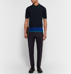 Lanvin Slim-Fit Dip-Dyed Wool Polo Shirt