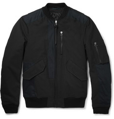 Lanvin - Leather-Trimmed Cotton-Blend Bomber Jacket