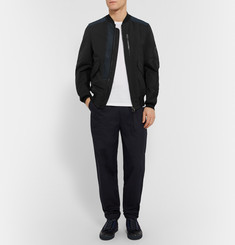 Lanvin Leather-Trimmed Cotton-Blend Bomber Jacket