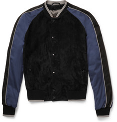 Lanvin Suede and Voile Bomber Jacket