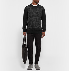 Lanvin - Printed Loopback Cotton-Jersey Sweatshirt