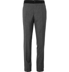 Lanvin - Slim-Fit Houndstooth Wool Trousers