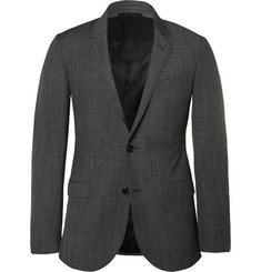 Lanvin - Charcoal Slim-Fit Mélange Wool Suit Jacket