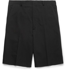 Lanvin - Wide-Leg Cotton And Silk-Blend Shorts