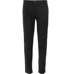 Lanvin Tapered Slub Wool and Silk-Blend Trousers