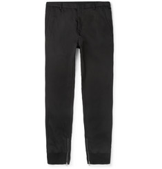Lanvin Tapered Zip-Detailed Twill Trousers