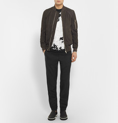 Lanvin Zip-Detailed Crepe Sweatpants
