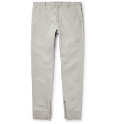 Lanvin - Slim-Fit Cotton and Silk-Blend Trousers