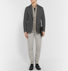 Lanvin Slim-Fit Cotton and Silk-Blend Trousers