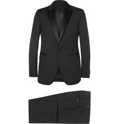 Lanvin - Black Attitude Slim-Fit Wool and Mohair-Blend Tuxedo