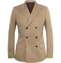 Dolce & Gabbana - Camel Stretch-Cotton Blend Blazer