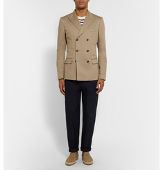 Dolce & Gabbana Camel Stretch-Cotton Blend Blazer