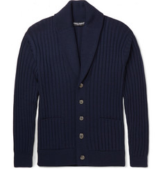 Dolce & Gabbana Shawl-Collar Virgin Wool Cardigan
