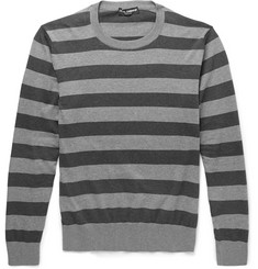 Dolce & Gabbana Striped Cotton Sweater