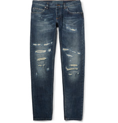 Dolce & Gabbana - Gold-Fit Distressed Denim Jeans